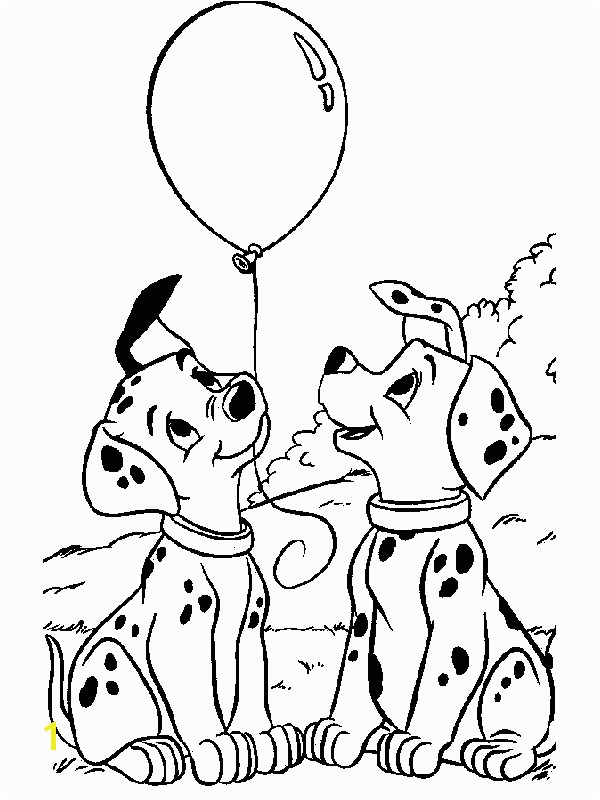 dalmations coloring pages 1