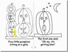 five little pumpkins coloring book