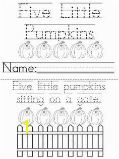 Great Five Little Pumpkins printable book