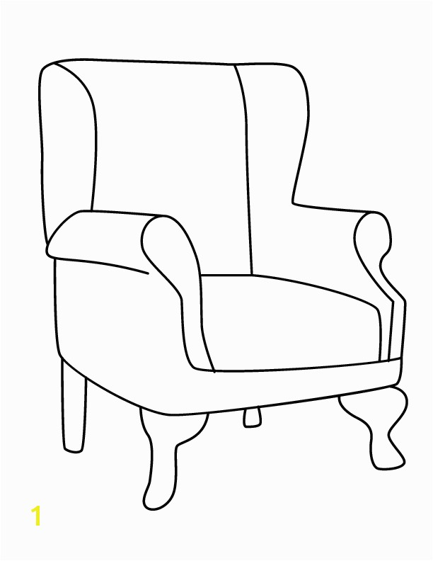 A Chair for My Mother Coloring Pages Gallery for School Chair Coloring Page Chair Project