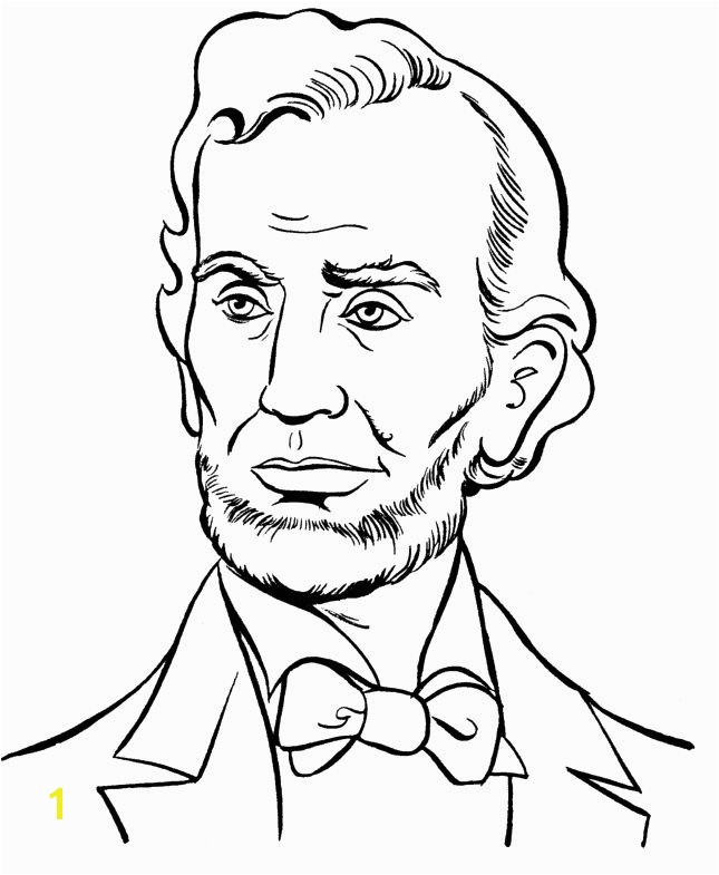 President Abraham Lincoln Coloring Pages President Day cartoon coloring pages