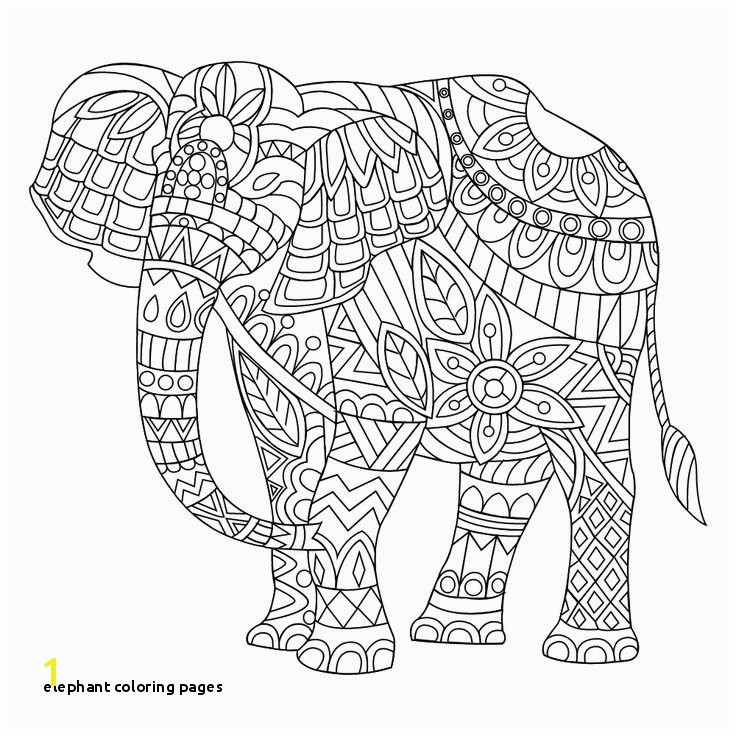 23 Elephant Coloring Pages