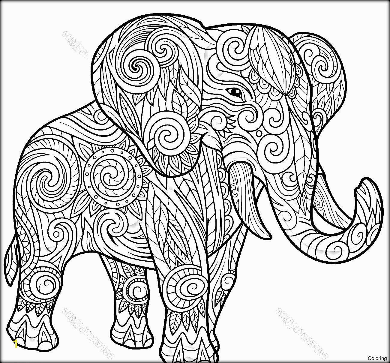 Elephant Coloring Pages For Kids Elephant Mandala Coloring Pages Heathermarxgallery