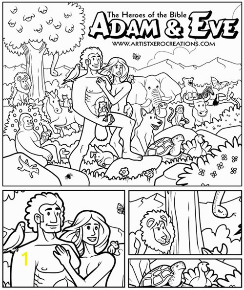 Adam and Eve Coloring Page Free Adam and Eve Bible Coloring Pages Vosvete