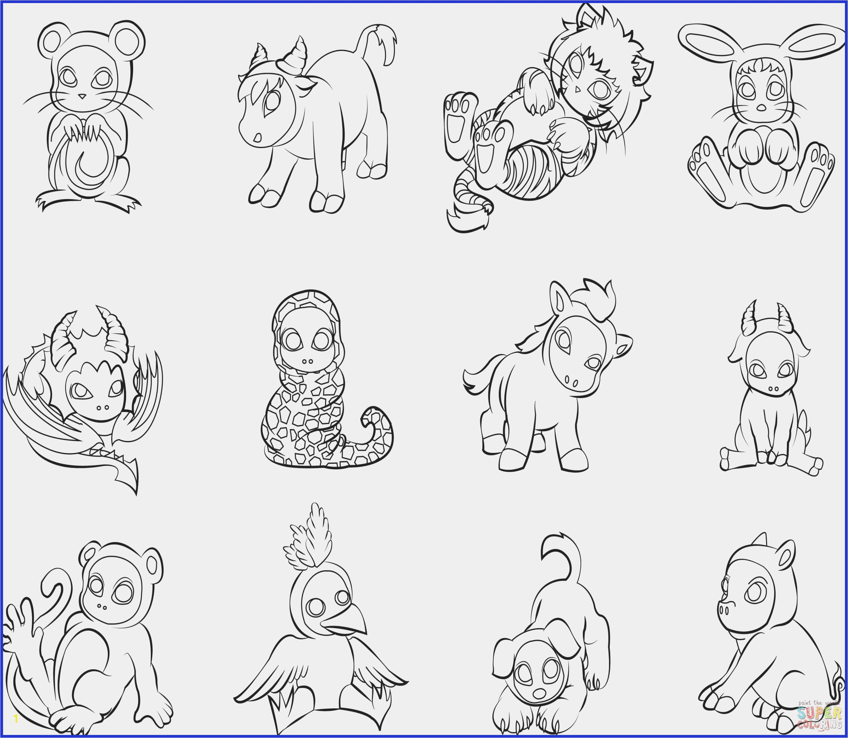 Adorable Baby Animal Coloring Pages Paint Coloring Pages Best Cute Baby Animal Coloring Pages Elegant