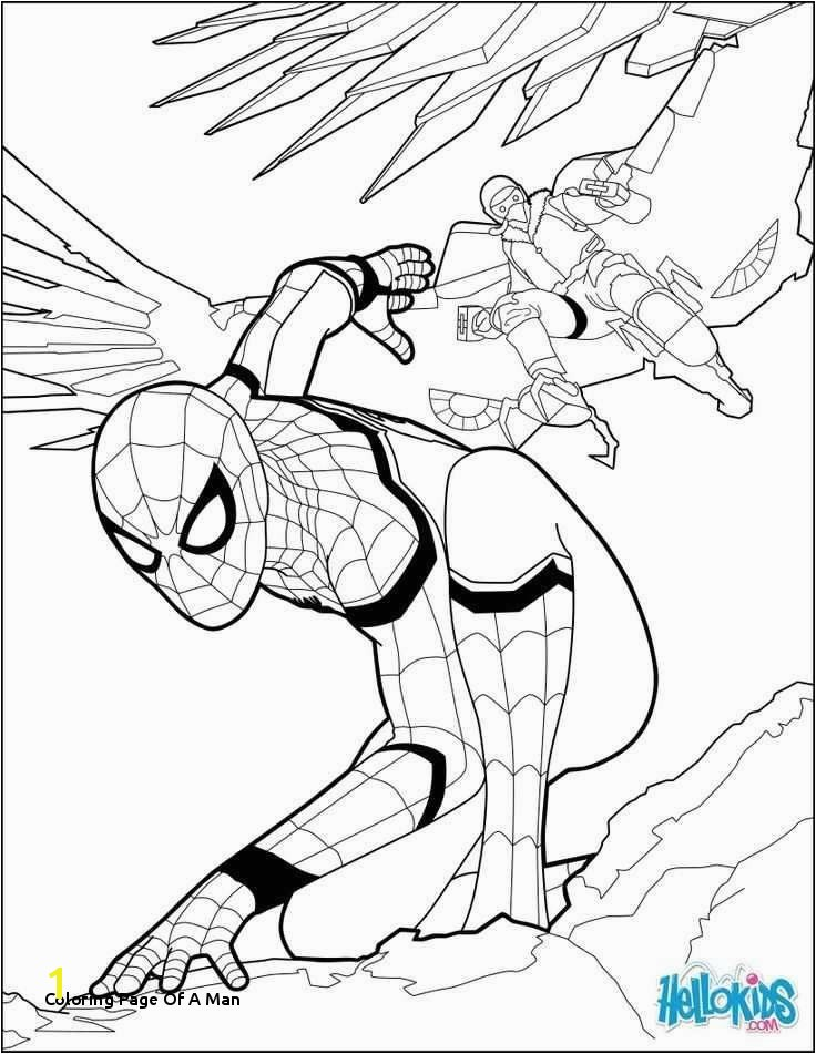 Coloring Page A Man Elegant Spiderman
