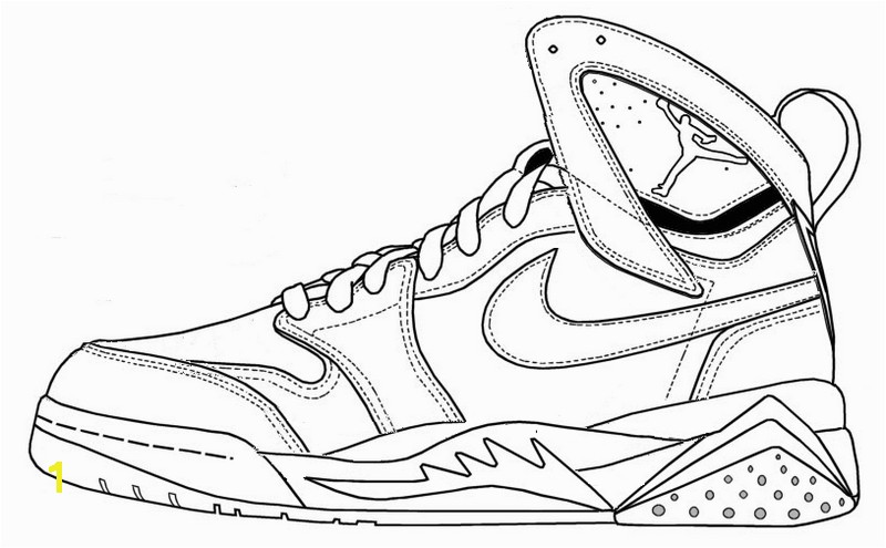 Air Jordan Coloring Pages Nike Air Jordan Coloring Page Shoes