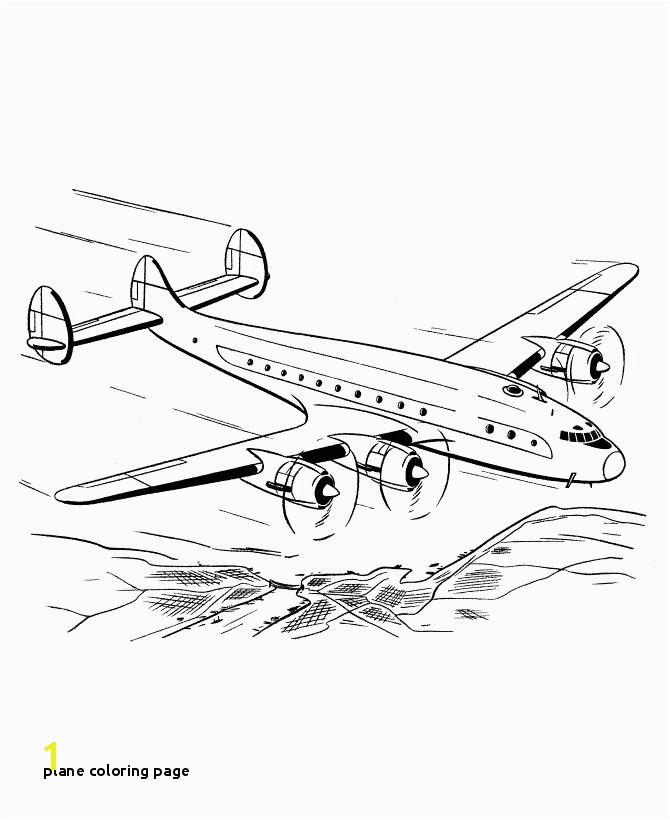 Plane Coloring Page Free Printable Airplane Coloring Pages for Kids