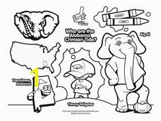 alabama crimson tide college football coloring pages 01
