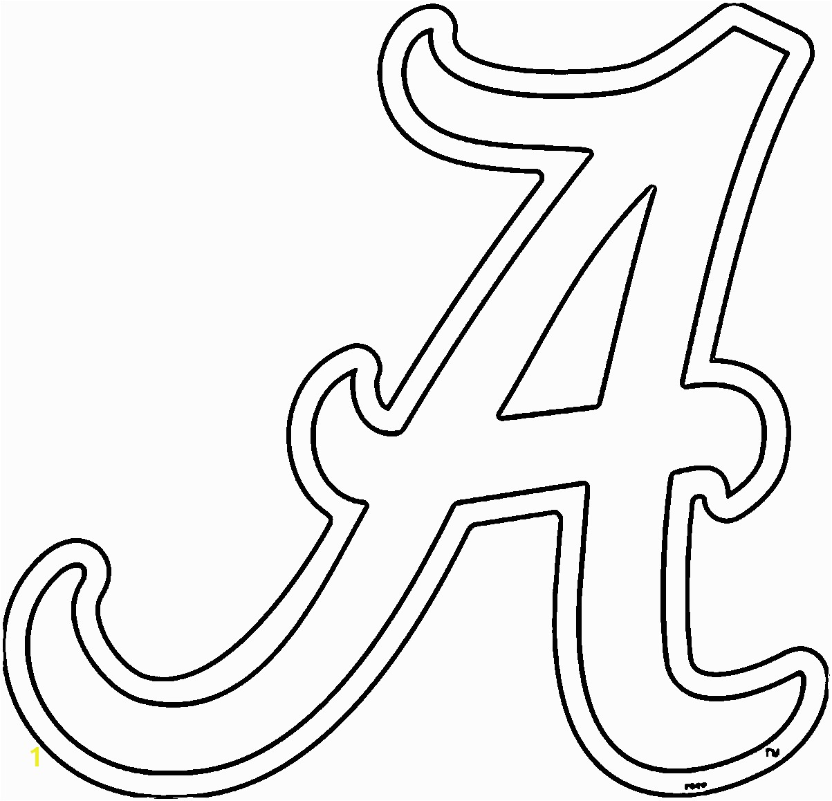 collection of crimson tide football coloring Alabama clipart sheet