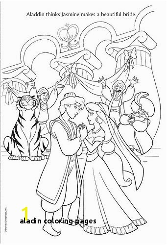 Aladin Coloring Pages Aladdin and Jasmine are Happy Coloring Pages