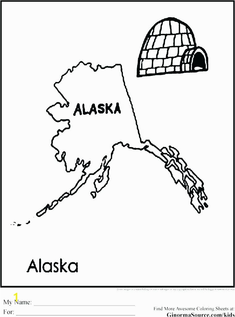 alaska coloring pages page state flag children book