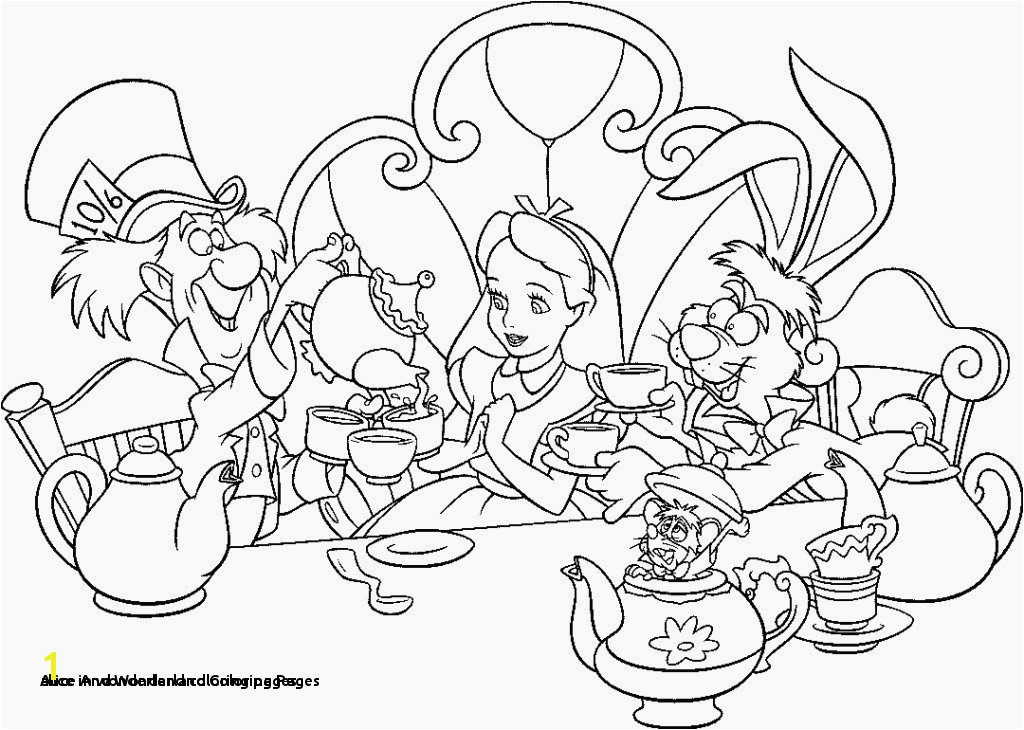 Alice In Wonder Land Coloring Pages 27 Alice and Wonderland Coloring Pages