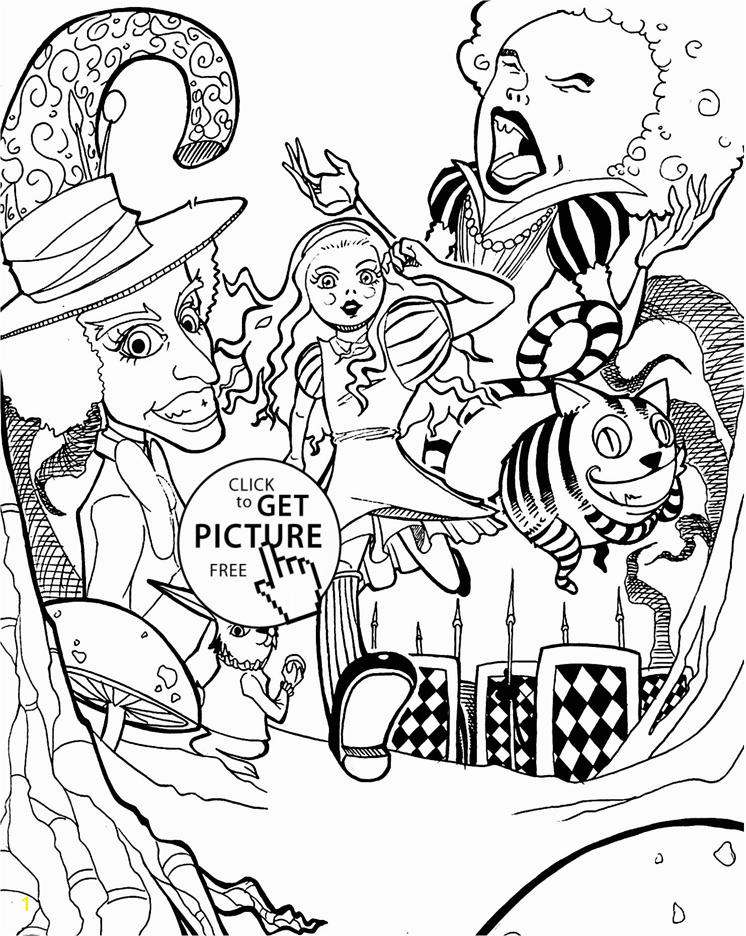 Alice In Wonderland Coloring Books Refrence Affordable Alice In Wonderland Coloring Pages with Alice In