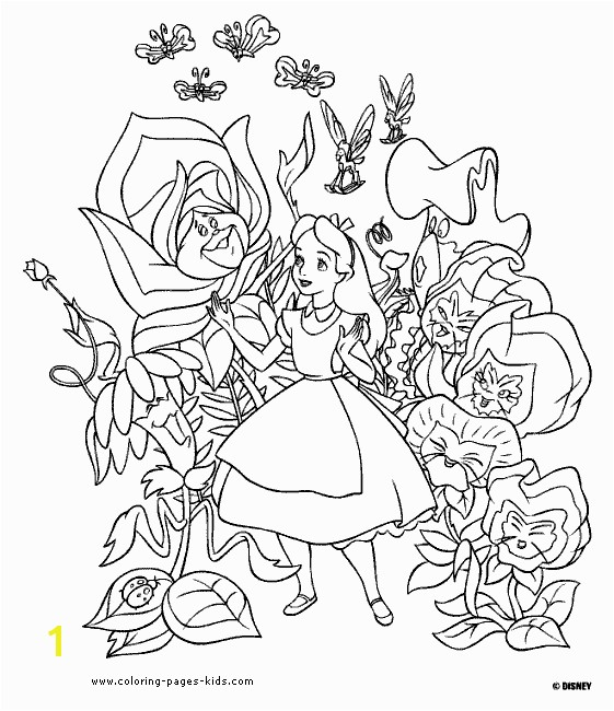 Alice In Wonder Land Coloring Pages Disney Coloring Book