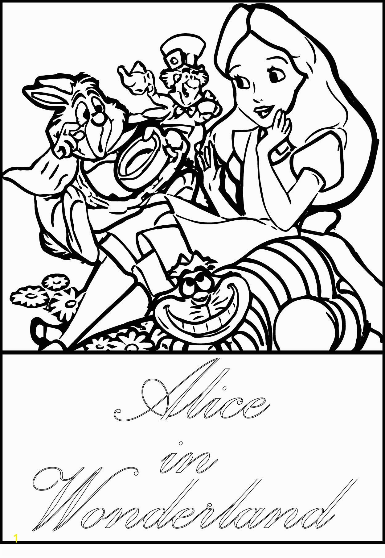 images alice wonderland coloring pages 1249—1808
