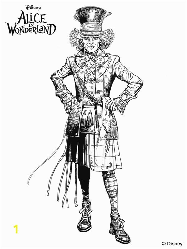 Tim Burton s Alice in Wonderland coloring page