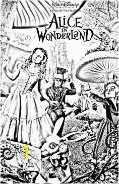 Free coloring page coloring movie alice tim burton Tim Burton s Alice