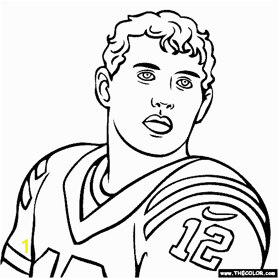 Andrew Luck Coloring Page