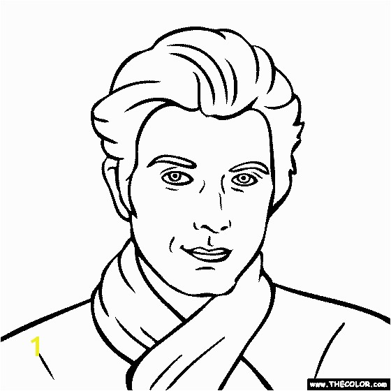 Adam Scott Coloring Page