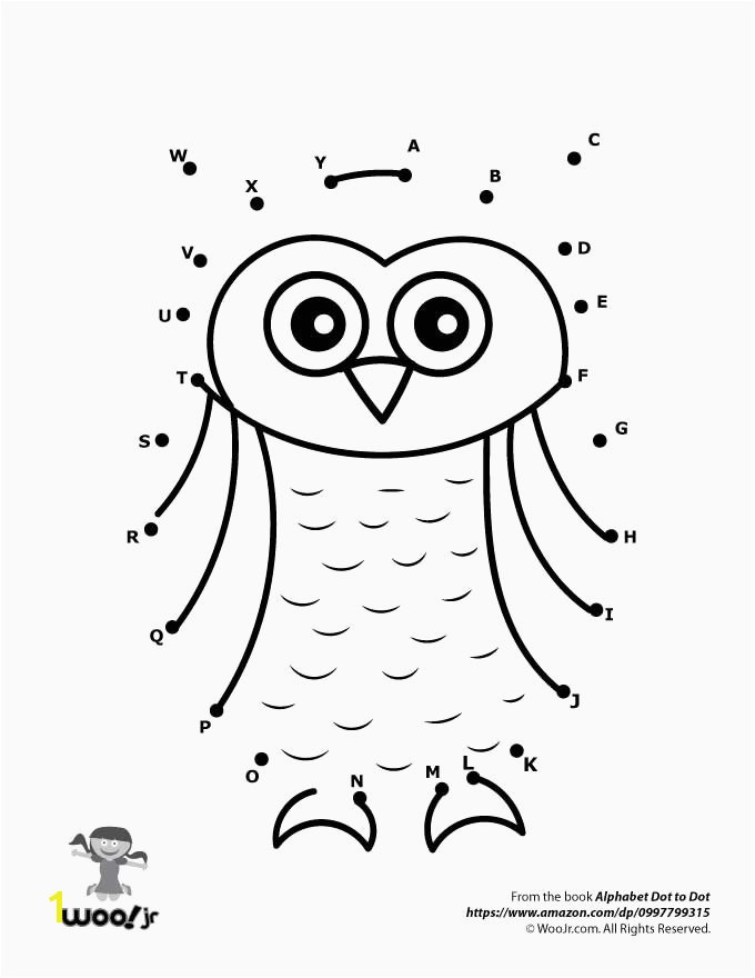 Connect the Dots Coloring Page New Owl Dot to Dot