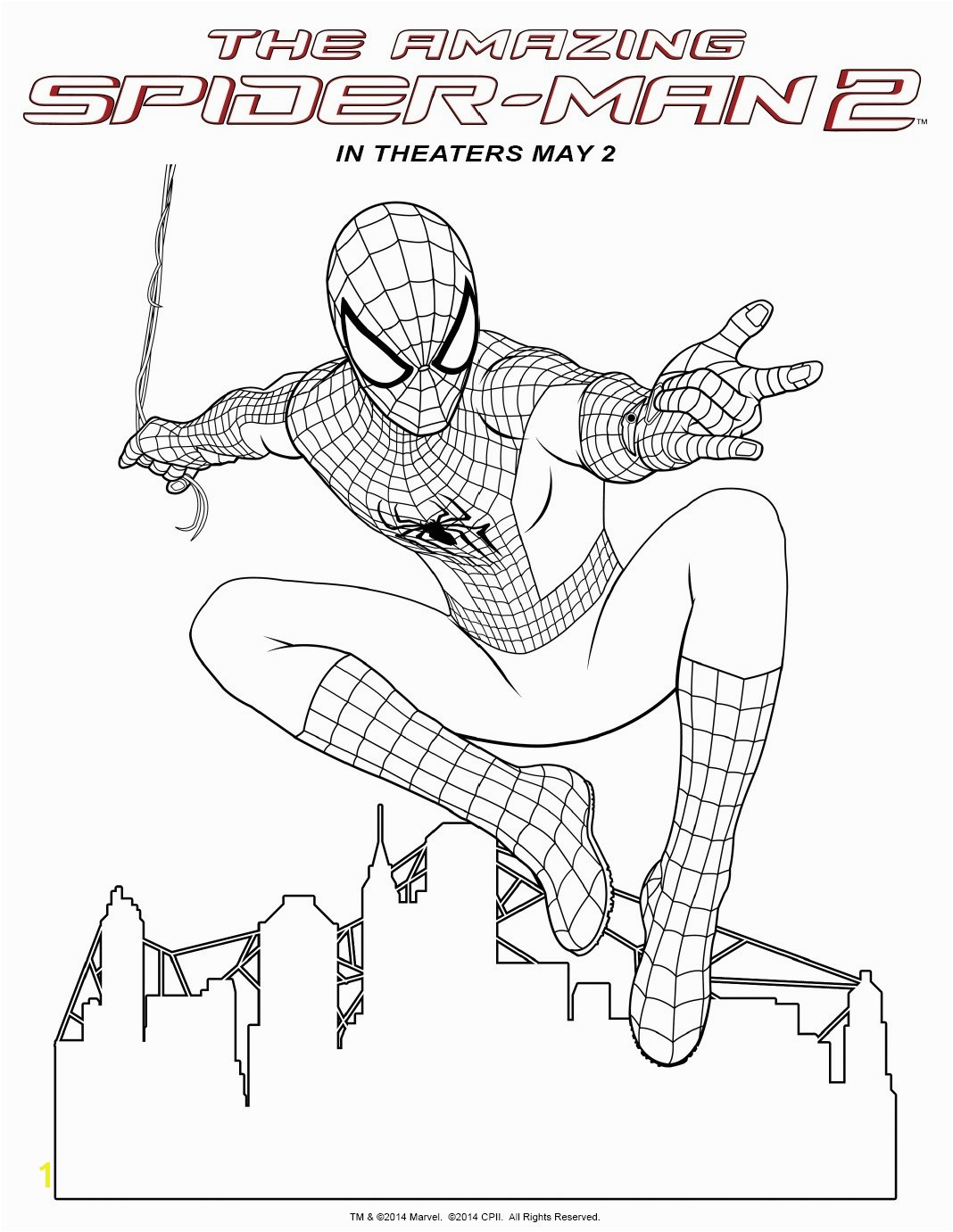 Last Chance Amazing Spider Man 2 Coloring Pages Spiderman s Fancy