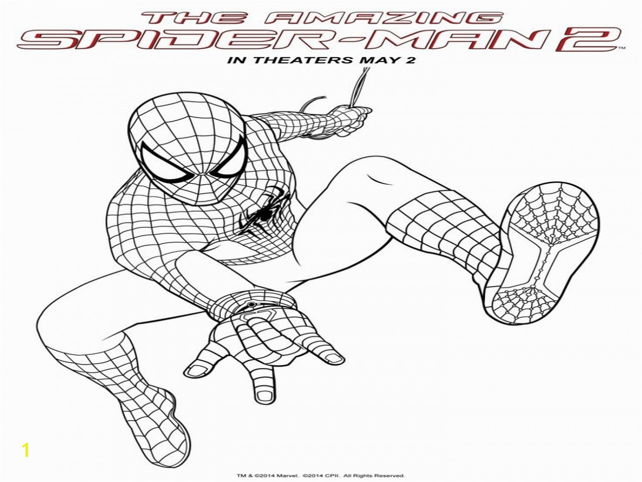 Superior Amazing Spiderman 2 Coloring Pages Spider Man The New Book At Big
