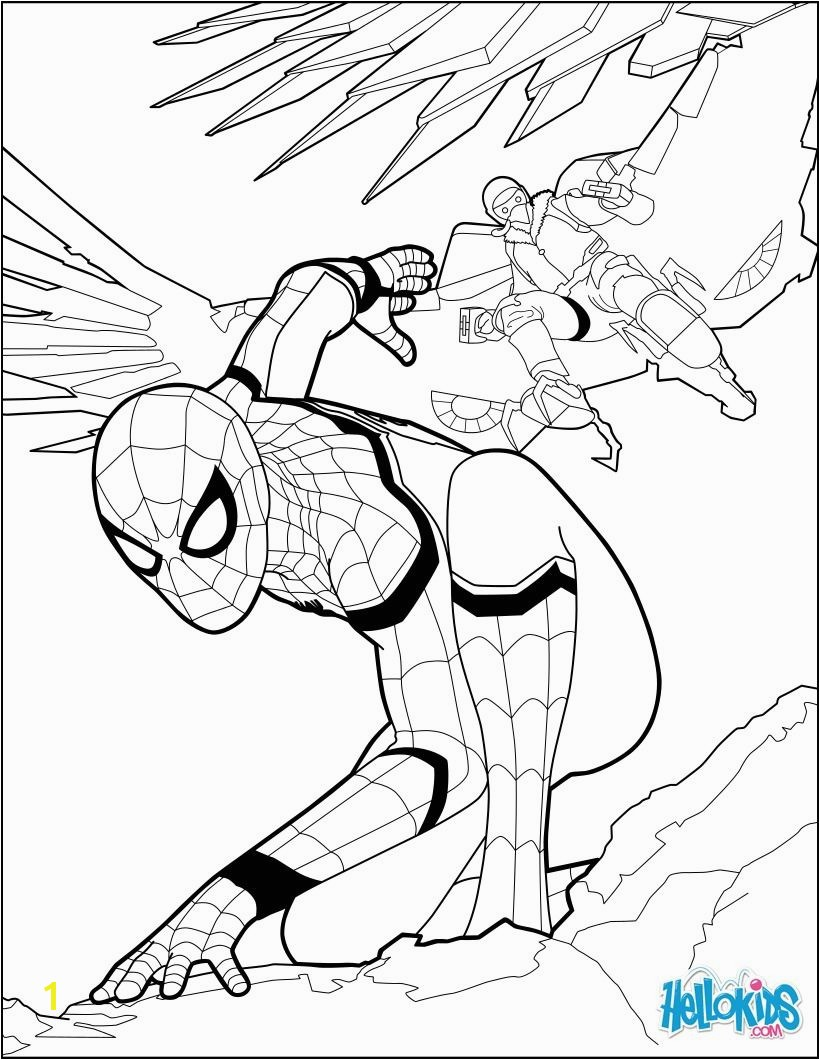 Spiderman coloring page from the new Spiderman movie Home ing More spiderman coloring sheets on hellokids
