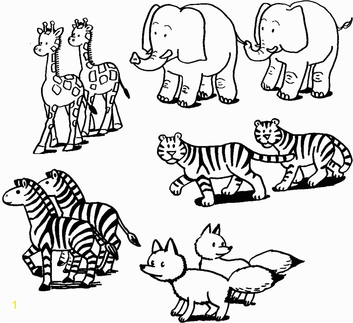 Animal Printouts for Noah s Ark