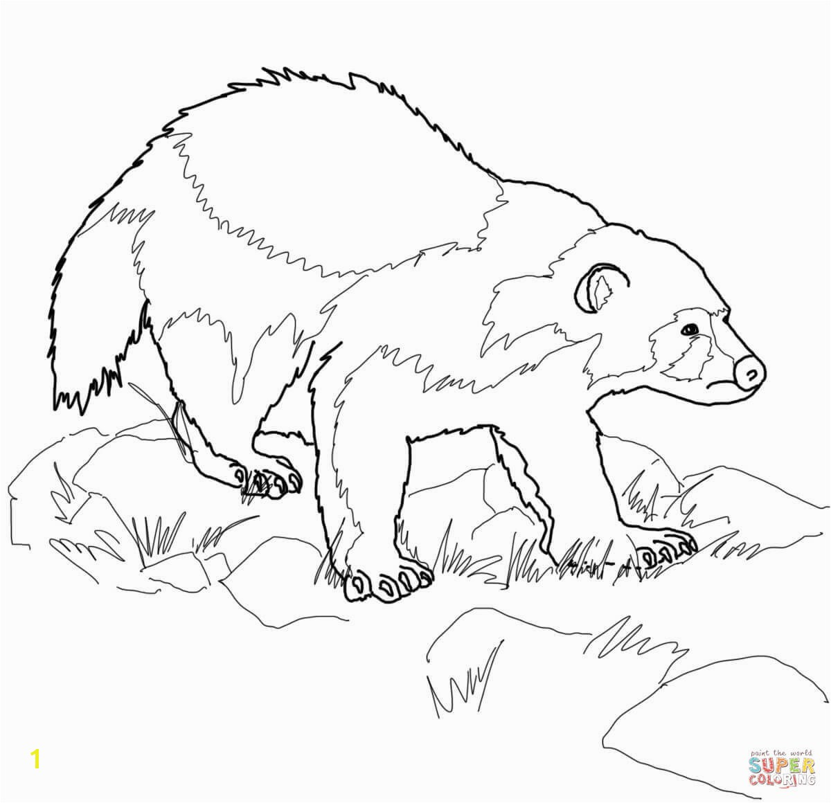 the Wolverine Animal coloring pages to view printable