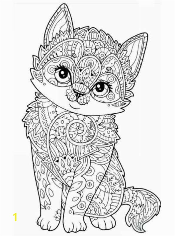 Coloring page Animals for teens and adults