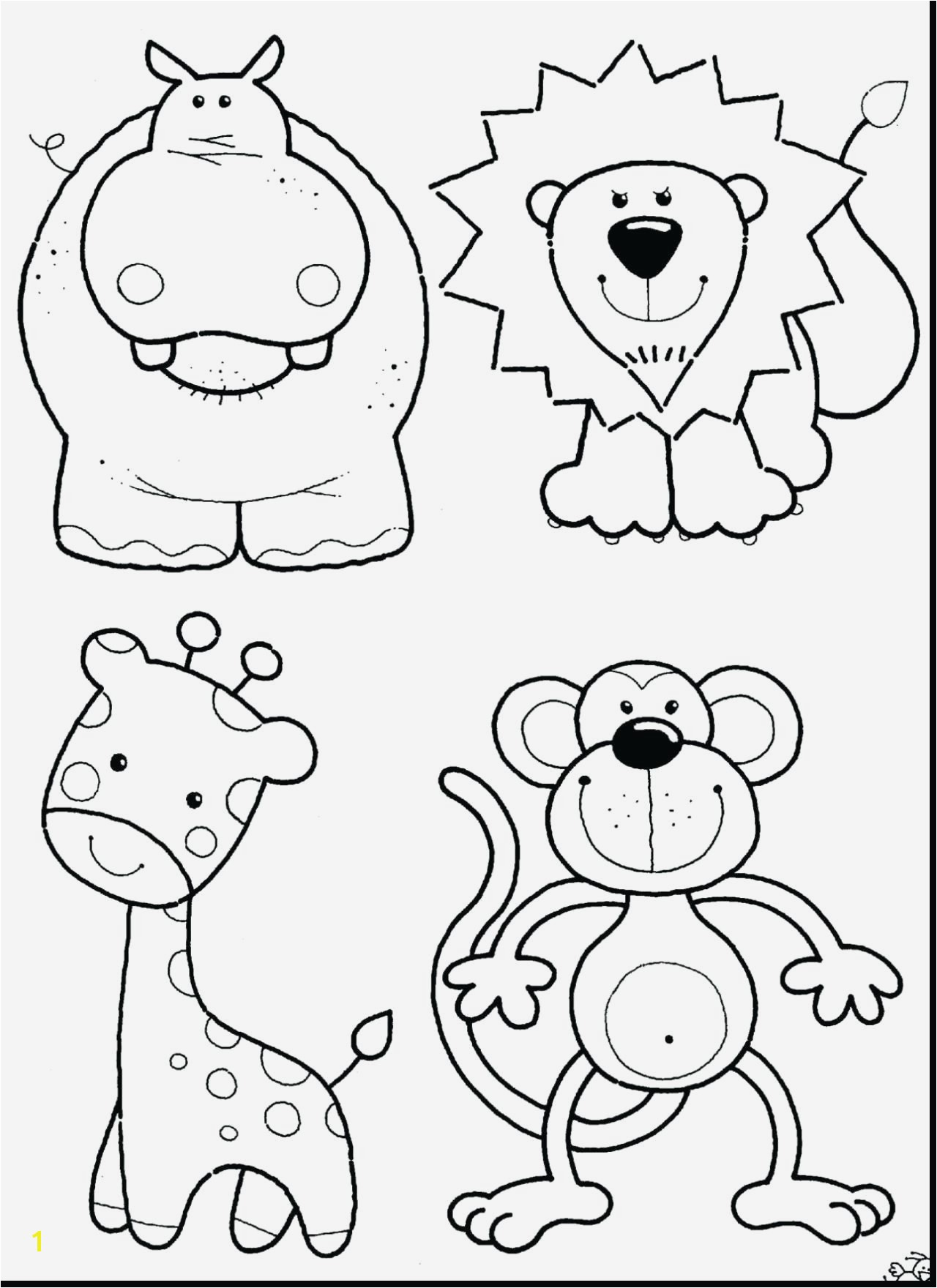 Baby Animal Coloring Pages Fresh Printable Jungle Animal Coloring