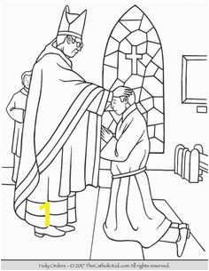 Sacrament of Holy Orders Coloring Page