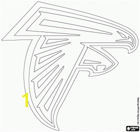 Falcon Coloring Pages Unique Logo For Atlanta Falcons American Football Team From The Nfc South