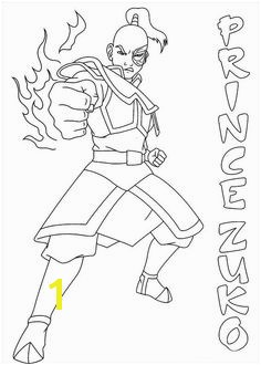 Avatar the last airbender coloring picture Zuko Enjoy Coloring