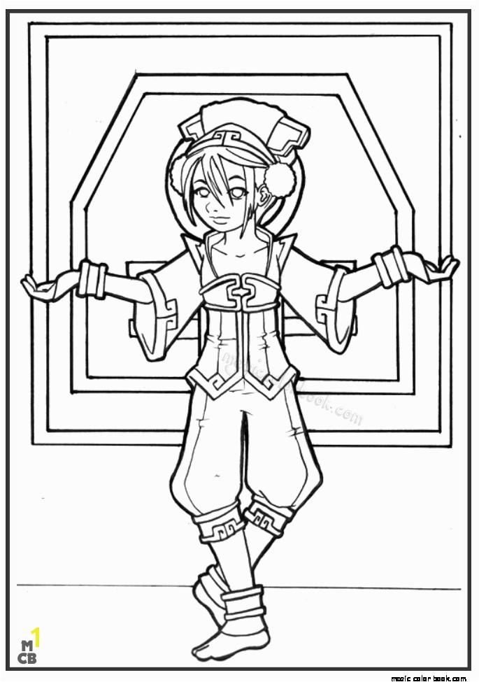 Avatar The Last Airbender Coloring Pages Toph Color Bros