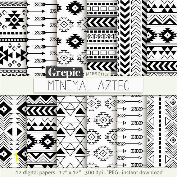 """Aztec Pattern Coloring Pages Aztec Digital Paper """"minimal Aztec"""" Aztec Patterns Tribal Patterns"""