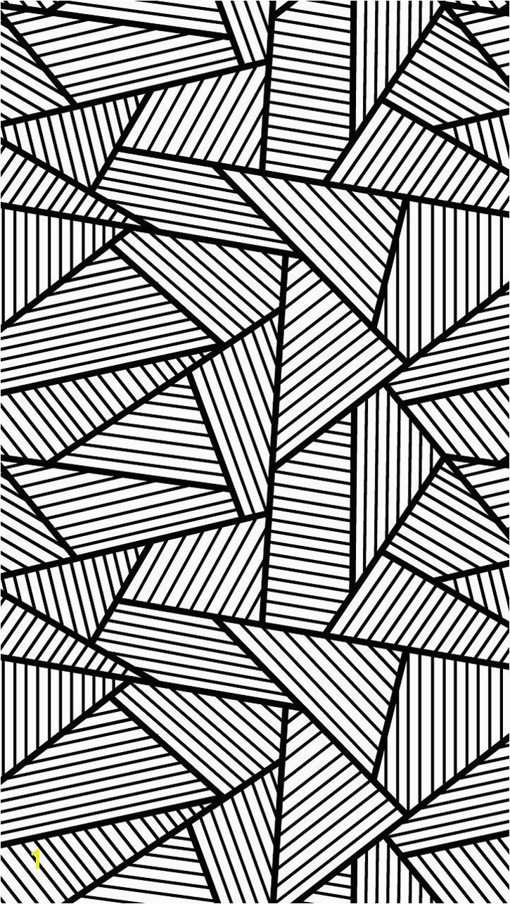 Free coloring page coloring adult triangles traits Anti stress Coloring page with big Triangles tangled and striped free