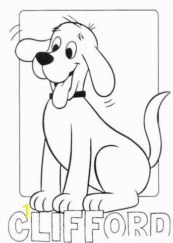 Picture Clifford Coloring page