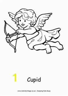 Cupid colouring page 3