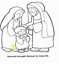 Hannah brought Samuel to Eli · Bible Coloring PagesColoring
