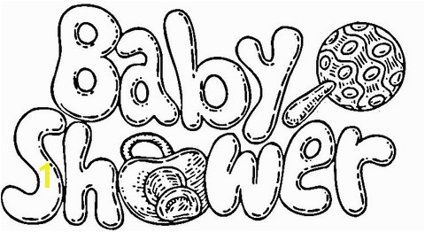 Baby Shower Coloring Pages for Kids Baby Shower Celebration Coloring Page