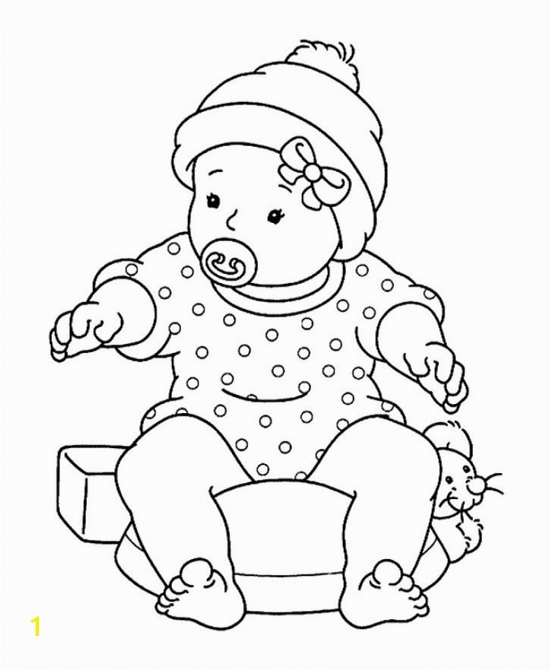 Baby shower coloring pages