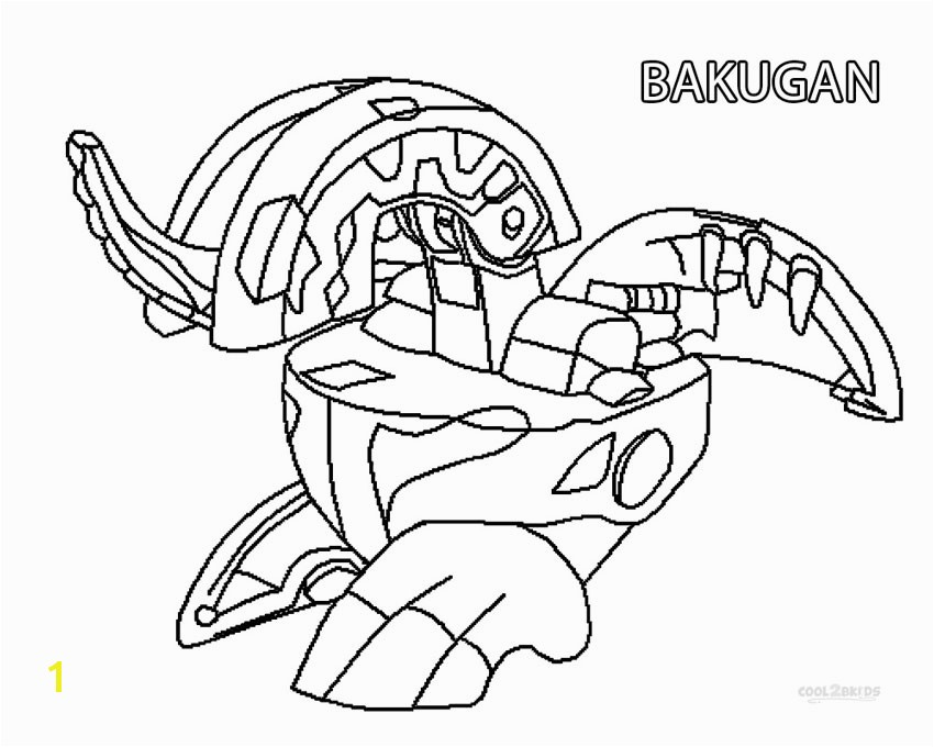 Printable Bakugan Coloring Pages In Bakugan Coloring Pages