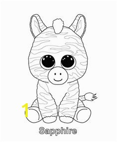 Sapphire Beanie Boo coloring page