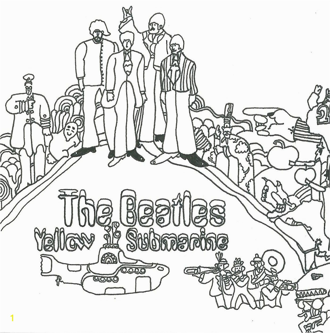 beatles yellow submarine coloring pages Beatles Yellow Submarine Coloring Pages
