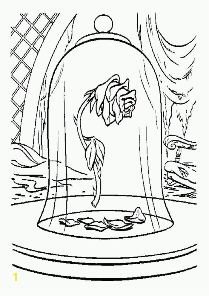 Free Beauty and The Beast Coloring Pages and the beast coloring pages