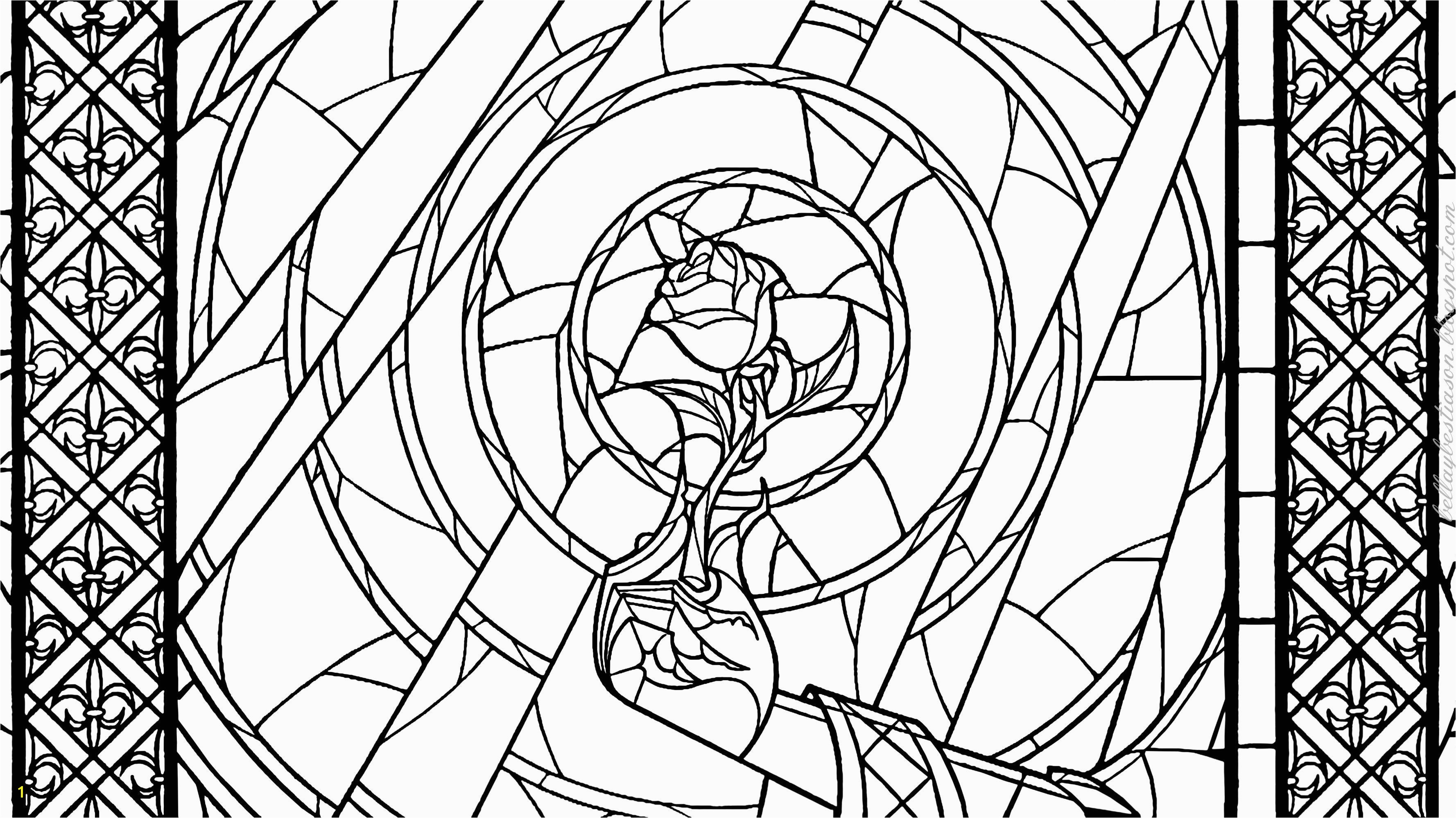 Beauty And The Beast Coloring Pages