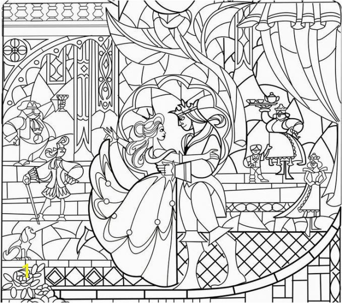 beauty and the beast stained glass window coloring page beauty and the beast stained glass window