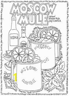 A Wine Beer And Cocktails Coloring Book
